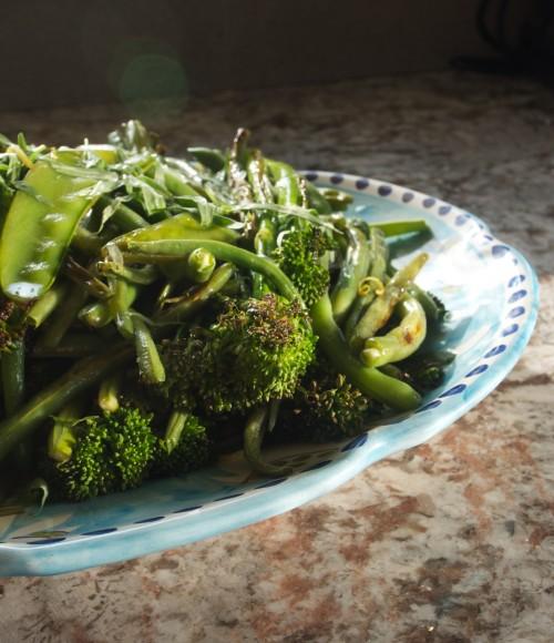 green veg plate