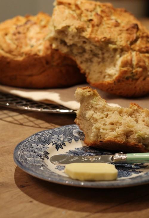 לחם קישואים וחמאה