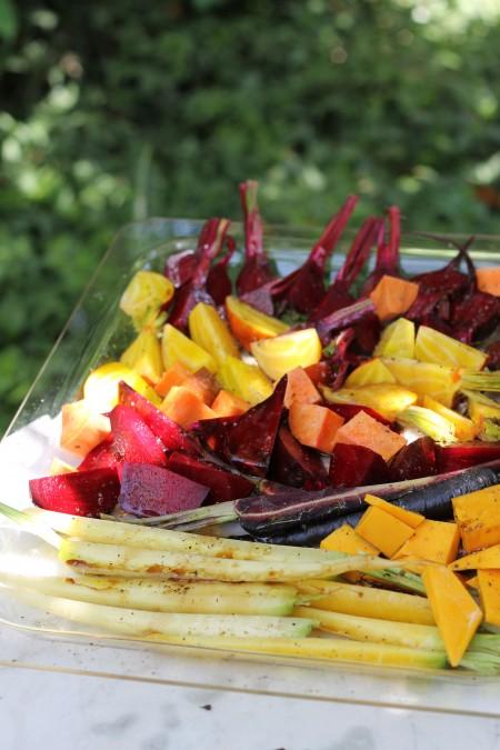 ירקות כתומים לתנור