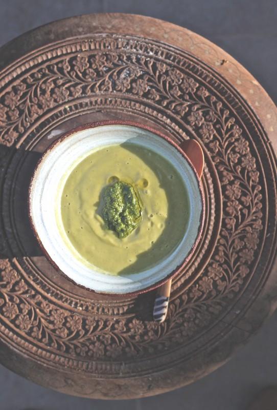 soupe d'été aux courgettes